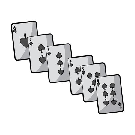 デザインのベクトル図をギャンブル ポーカー カード カジノ デッキ