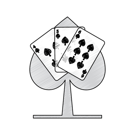 spades suit emblem french playing cards related icon icon image vector illustration design