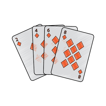 diamonds suit french playing cards related icon icon image vector illustration design Standard-Bild - 90165615