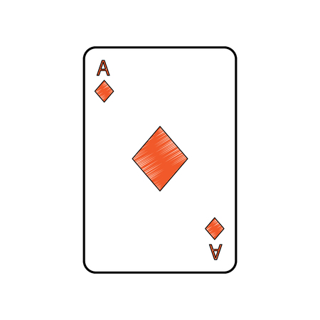 ace of diamonds or tiles french playing cards related icon icon image vector illustration design Stock Vector - 90166853