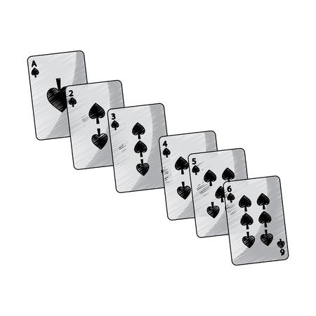 Spaten Anzug Französisch Spielkarten verwandte Symbol Bild Vektor Illustration Design Standard-Bild - 90166943