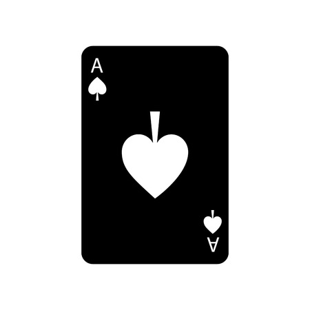 ace of spades french playing cards related icon icon image vector illustration design  black and white