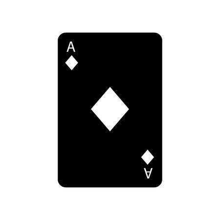 ace of diamonds or tiles french playing cards related icon icon image vector illustration design  black and white Illustration