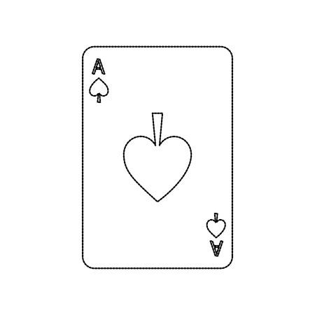 poker casino ace spade card playing icon vector illustration 일러스트