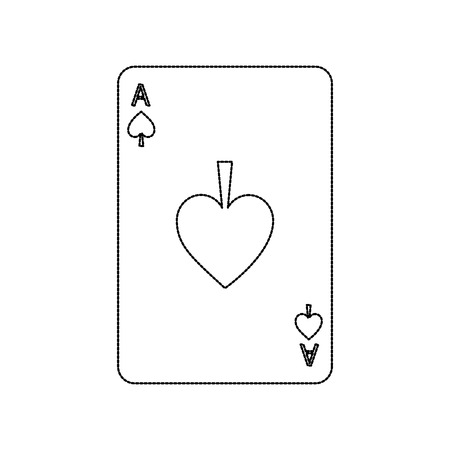 poker casino ace spade card playing icon vector illustration Çizim