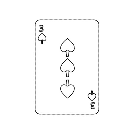three of spades playing card theme casino vector illustration