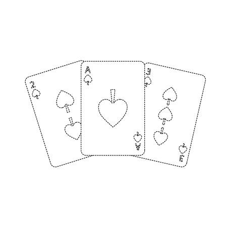 Spaten Anzug Französisch Spielkarten verwandte Symbol Bild Vektor Illustration Design Standard-Bild - 90167462