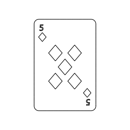 火かき棒のトランプ ダイヤモンド カジノ アイコン ベクトル図 写真素材 - 90167463