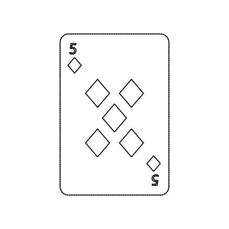 포커 게임 카드 다이아몬드 카지노 아이콘 벡터 일러스트 레이 션