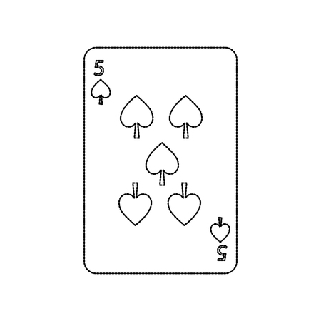 poker casino spade card playing icon vector illustration Ilustracja