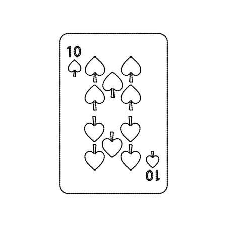 poker casino spade card playing icon vector illustration Ilustracja