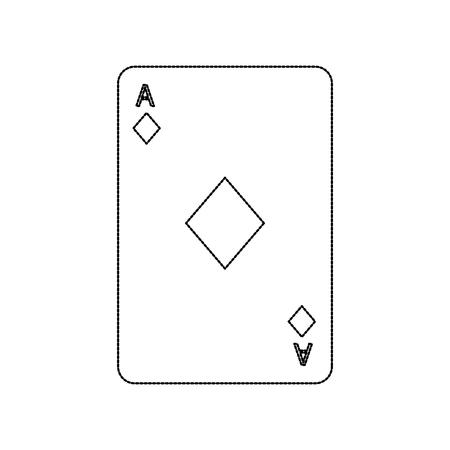 poker casino ace diamond card playing icon vector illustration