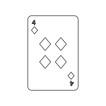 Ilustración del vector del icono del casino del diamante del naipe del póker Foto de archivo - 90167504