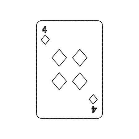 poker playing card diamond casino icon vector illustration