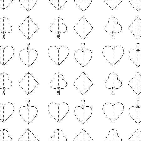 seamless poker pattern with card suits casino texture vector illustration Illustration