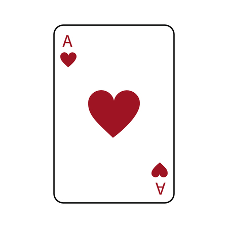 ace of hearts french playing cards related icon image vector illustration design  Vectores