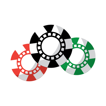 chips casino related icons image vector illustration design  Ilustração