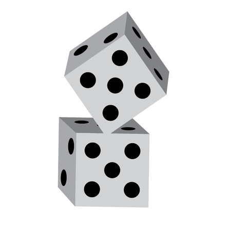 dice game icon image vector illustration design  Illustration