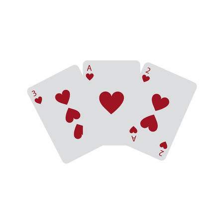 hearts suit french playing cards icon image vector illustration design