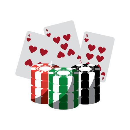 チップ カジノを持つカード関連のアイコン画像ベクトル イラスト デザイン