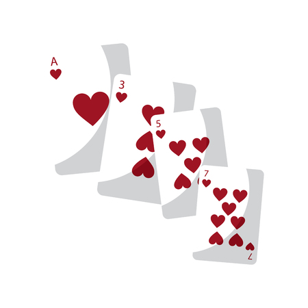 ace of hearts: hearts suit french playing cards icon image vector illustration design