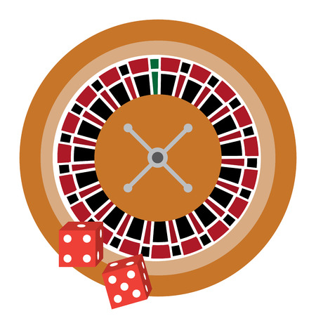 roulette with dice casino related icons image vector illustration design Stok Fotoğraf - 90170692