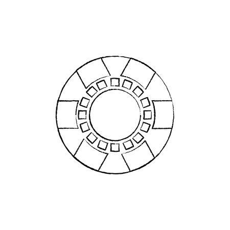 칩 카지노 관련 아이콘 이미지 벡터 일러스트 레이 션 디자인 검은 스케치 라인