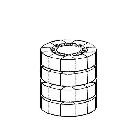 チップ カジノ関連のアイコン画像ベクトル イラスト デザイン黒スケッチ線