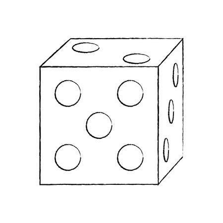 die game icon image vector illustration design  black sketch line