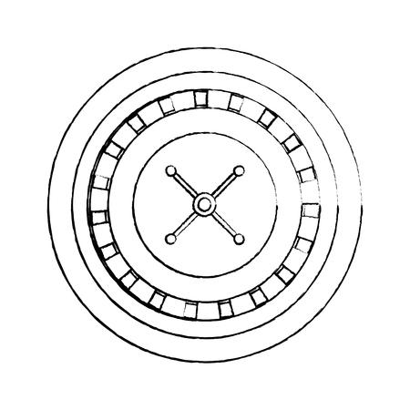 casino roulette wheel gamble entertainment vector illustration