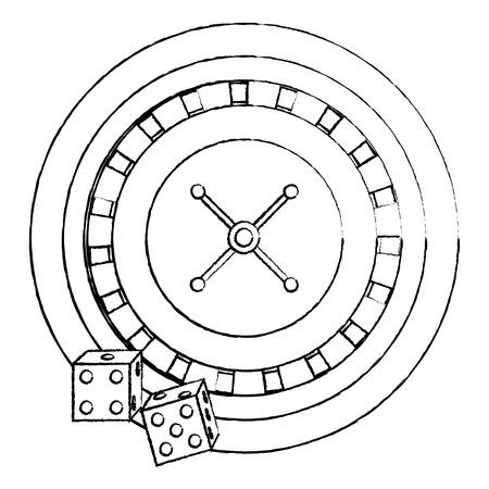La roulette del poker del casinò taglia l'illustrazione di vettore dell'icona di gioco Archivio Fotografico - 90170490