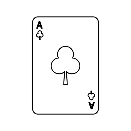 poker casino ace spade card playing icon vector illustration Illustration