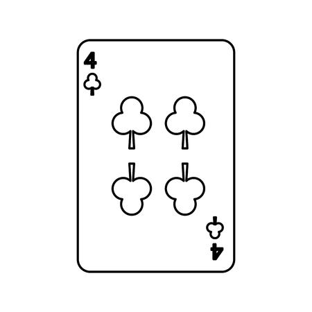 Poker jogando o cartão de clube casino jogando icon ilustração vetorial Foto de archivo - 90170495