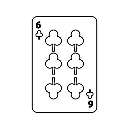 ポーカー クラブ カード カジノ アイコン ベクトル図