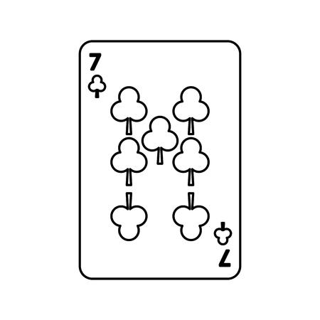 ポーカープレイクラブカードカジノギャンブルアイコンベクトルイラスト
