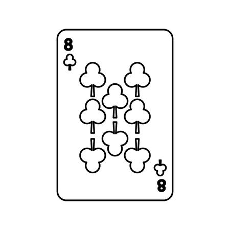 poker speelclub kaart casino gokken pictogram vector illustratie