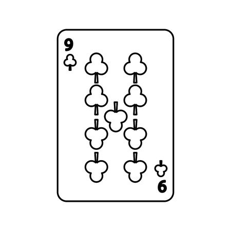 Illustrazione di vettore dell'icona di gioco del casinò della carta del club di gioco del poker Archivio Fotografico - 90170554