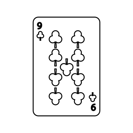 poker playing club card casino gambling icon vector illustration