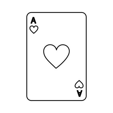 poker casino ace heart card playing icon vector illustration Illustration