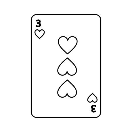 踏鋤トランプのテーマのカジノの 3 つのベクトル イラスト 写真素材 - 90170560