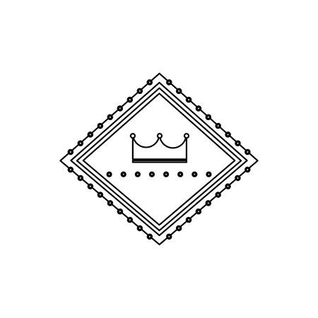 Retro- Anschlagtafelzeichenkronendesign-Vektorillustration des Kasinos Standard-Bild - 90170627