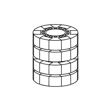 Illustrazione di vettore di valuta di gioco della pila dei chip del casinò Archivio Fotografico - 90170629