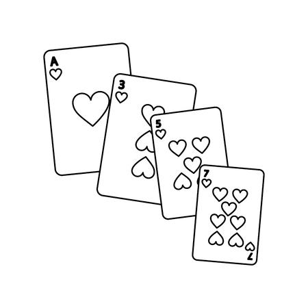 포커 카드 도박 디자인 벡터 일러스트 레이 션 카지노 갑판