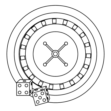 casino poker roulette dices gambling icon vector illustration
