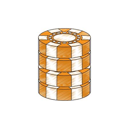 チップ カジノ関連のアイコン画像ベクトル イラスト デザイン  イラスト・ベクター素材