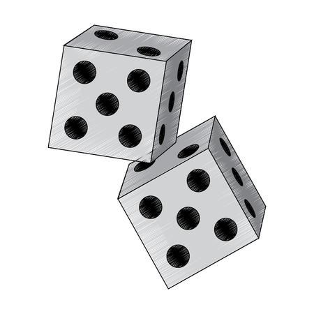 dice game icon image vector illustration design  Çizim