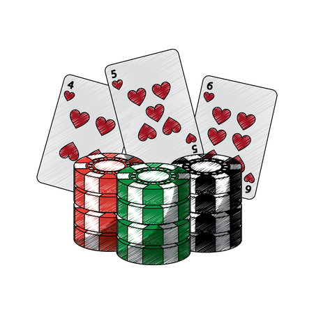 cards with chips casino related icons image vector illustration design 版權商用圖片 - 90182692