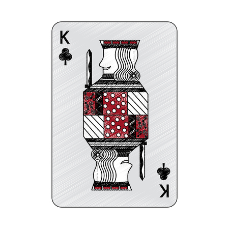 Rei do trevo ou clubes francês jogando cartas relacionados ícone imagem vector ilustração design Foto de archivo - 90182694