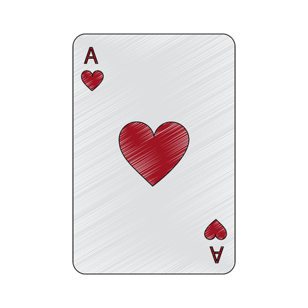 ace of hearts french playing cards related icon image vector illustration design Illustration