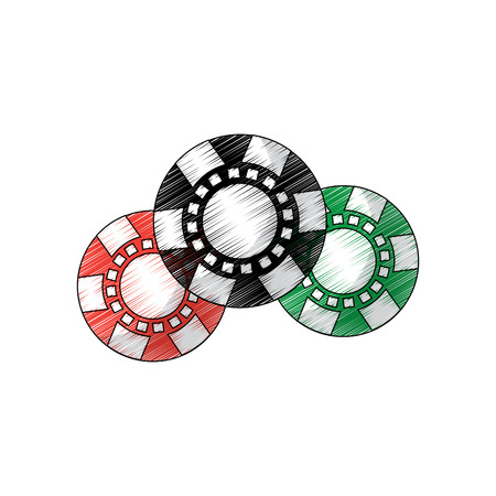 chips casino related icons image vector illustration design Imagens - 90185924